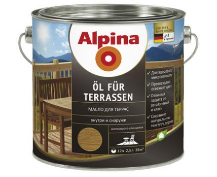 Alpina. Масло для террас